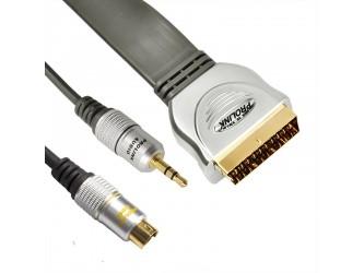 Prolink EX SCART-SVHS4P+3,5STR 10M