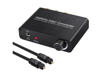 Konwerter 5.1 DolbyS do nc+ SPDIF Toslink AC-3 DTS PCM 192kHz / Wzmacniacz słuchawkowy Toslink