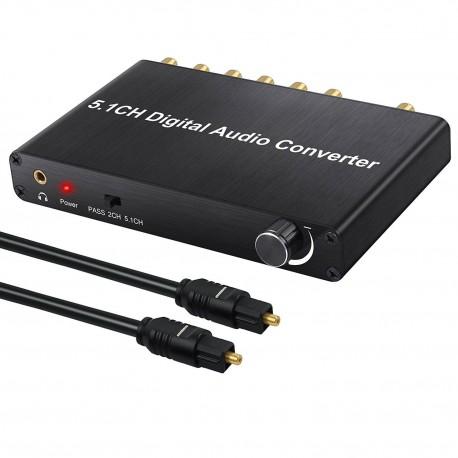 Konwerter 5.1 Surround do nc+ SPDIF Toslink AC-3 DTS PCM 192kHz
