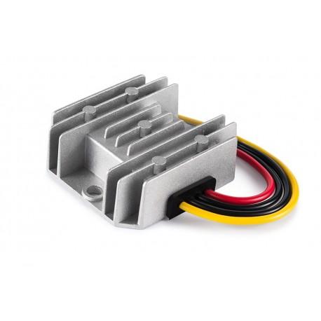 Przetwornica 24V (18V..35V) do 12V 20A szczelna z radiatorem