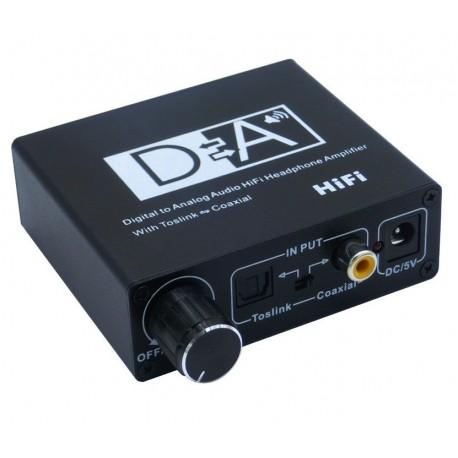 Konwerter cyfrowy Toslink - Coaxial +DAC analog