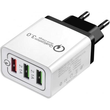Ładowarka szybka podróżna 3xUSB Quick Charge 3.0