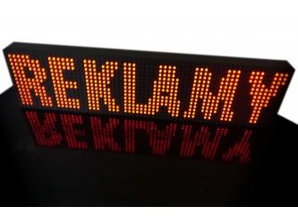 Obudowa wyświetlacza LED P4.75 30,4x7,6cm POLICJA / MINI