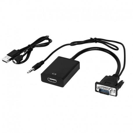 Konwerter video VGA +audio stereo do HDMI +kabel