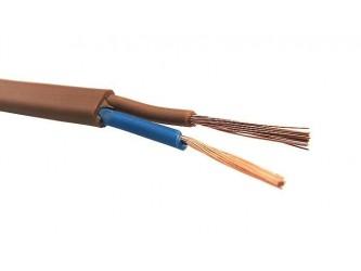 Przewód H03VVH2-F OMYp 2x0,75mm2 brązowy do RTV/AGD, głośnikowy