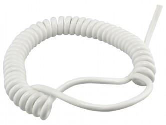 Kabel 30/90cm OMGY 3x0,75mm2 biały spiralny, do żyrandoli, RTV/AGD ruchomych