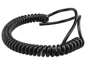 Kabel 30/90cm OMGY 3x0,75mm2 czarny spiralny, do żyrandoli, RTV/AGD ruchomych