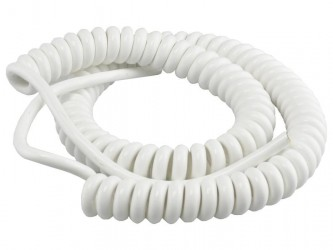Kabel 55/165cm OMGY 3x0,75mm2 biały spiralny, do żyrandoli, RTV/AGD ruchomych