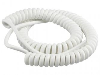 Kabel 80/240cm OMGY 3x1,5mm2 biały spiralny, do żyrandoli, RTV/AGD ruchomych
