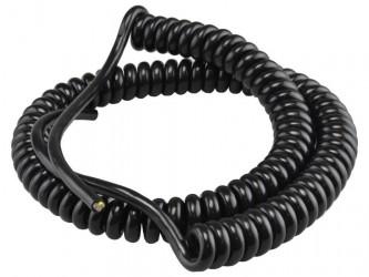 Kabel 80/240cm OMGY 3x1,5mm2 czarny spiralny, do żyrandoli, RTV/AGD ruchomych
