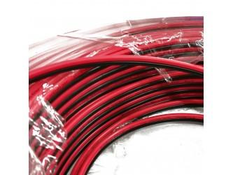 Przewód silikonowy OFC czarny+czerwony od 2x1 do 2x2.5mm