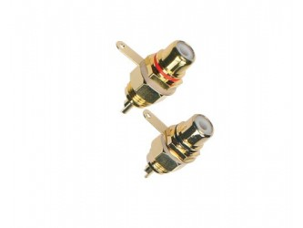 GNIAZDO Cinch RCA panel Prolink TRC-031 Czarny