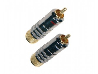 WTYK Cinch RCA złocony Prolink TRC-017 Biały
