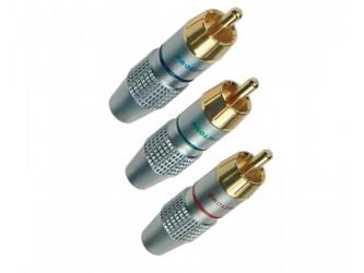WTYK Cinch RCA złocony Prolink TRC-020 Zielony