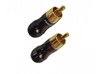 WTYK Cinch RCA złocony Prolink TRC-021 Czerwony