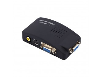Konwerter switch S-Video CVBS VGA do VGA +kable