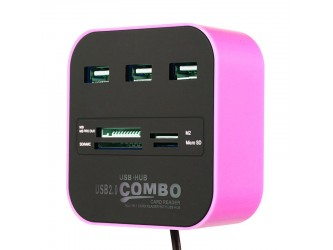 HUB USB +czytnik kart micro SD MS jak Ikea Klockis